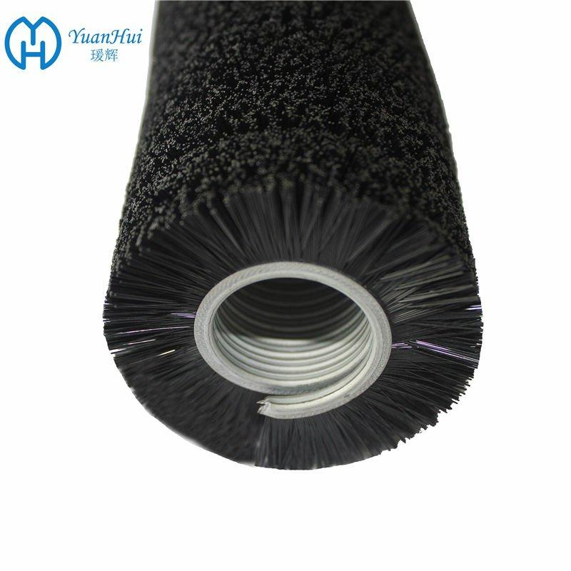 YuanHui Single Metal Back Cylinder Brush - Black Straight Plastic