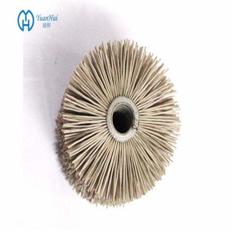 YuanHui Single Metal Back Cylinder Brush - Abrasive Filament Brush