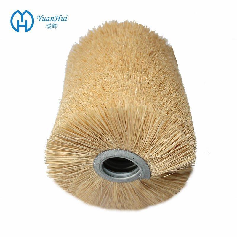 YuanHui Single Metal Band Cylinder Brush - Tampico Fiber Brush